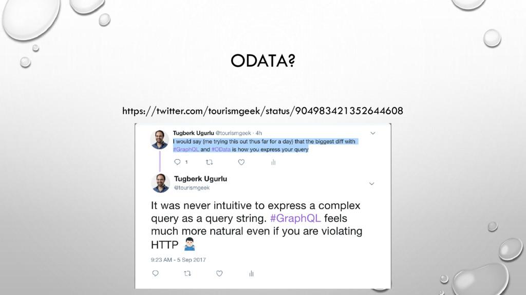 ODATA? https://twitter.com/tourismgeek/status/9...