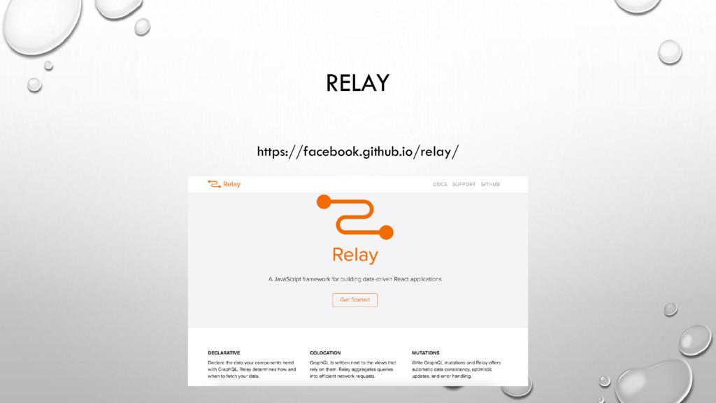 RELAY https://facebook.github.io/relay/