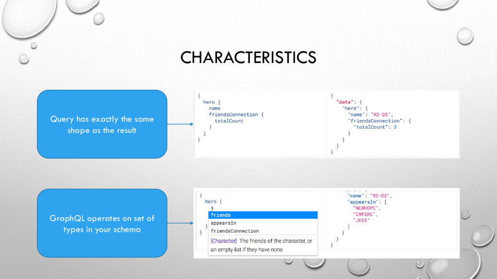 CHARACTERISTICS Query has exactly the same shap...