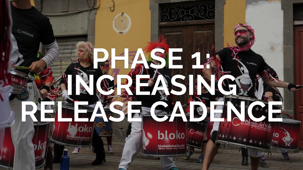 PHASE 1: INCREASING RELEASE CADENCE