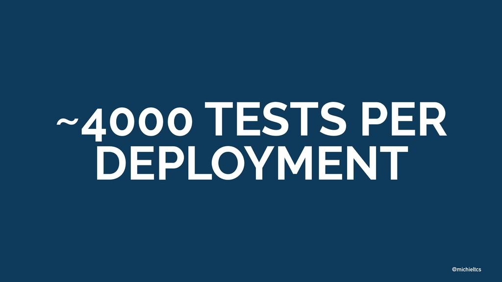 @michieltcs ~4000 TESTS PER DEPLOYMENT