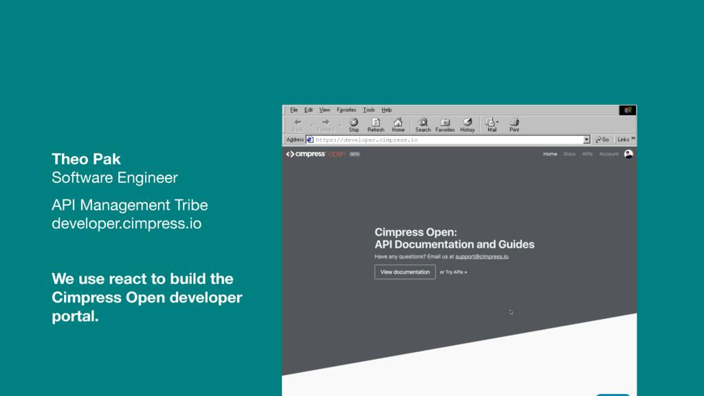 Theo Pak Software Engineer  API Management Trib...