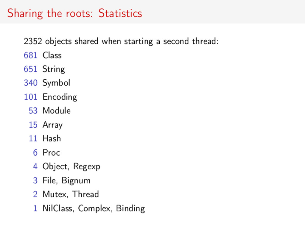 Sharing the roots: Statistics 2352 objects shar...