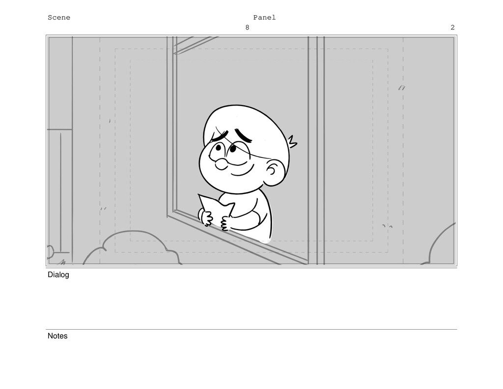 Scene 8 Panel 2 Dialog Notes
