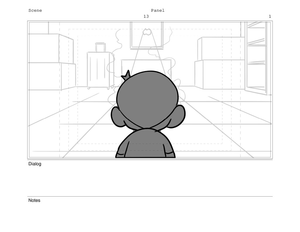 Scene 13 Panel 1 Dialog Notes