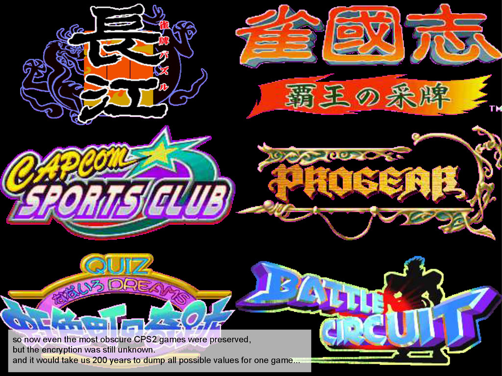 so now even the most obscure CPS2 games were pr...