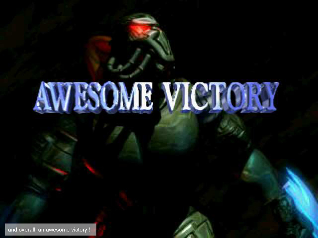 and overall, an awesome victory !