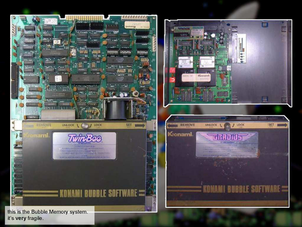 this is the Bubble Memory system. it's very fra...