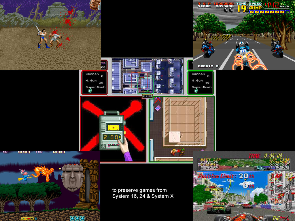 to preserve games from System 16, 24 & System X