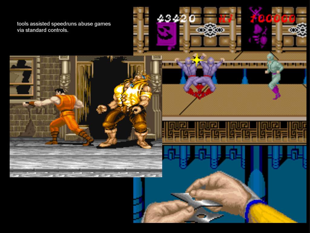 tools assisted speedruns abuse games via standa...