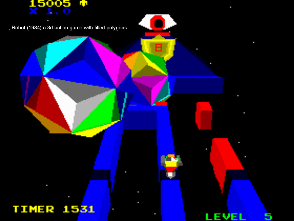 I, Robot (1984) a 3d action game with filled po...