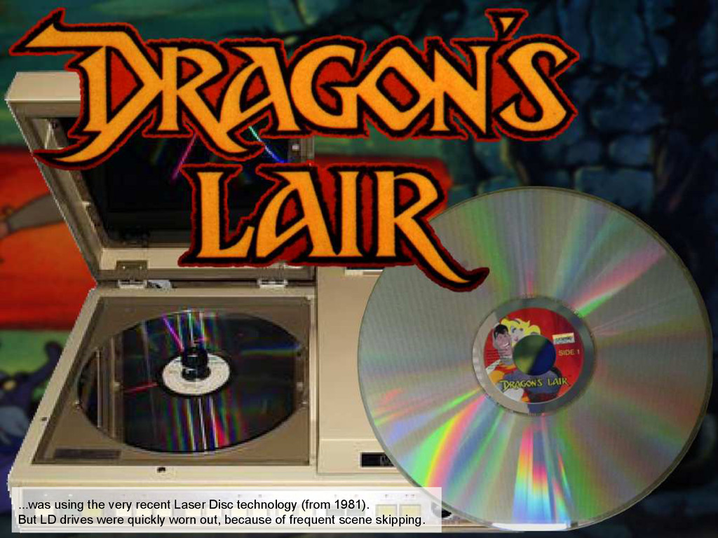 ...was using the very recent Laser Disc technol...