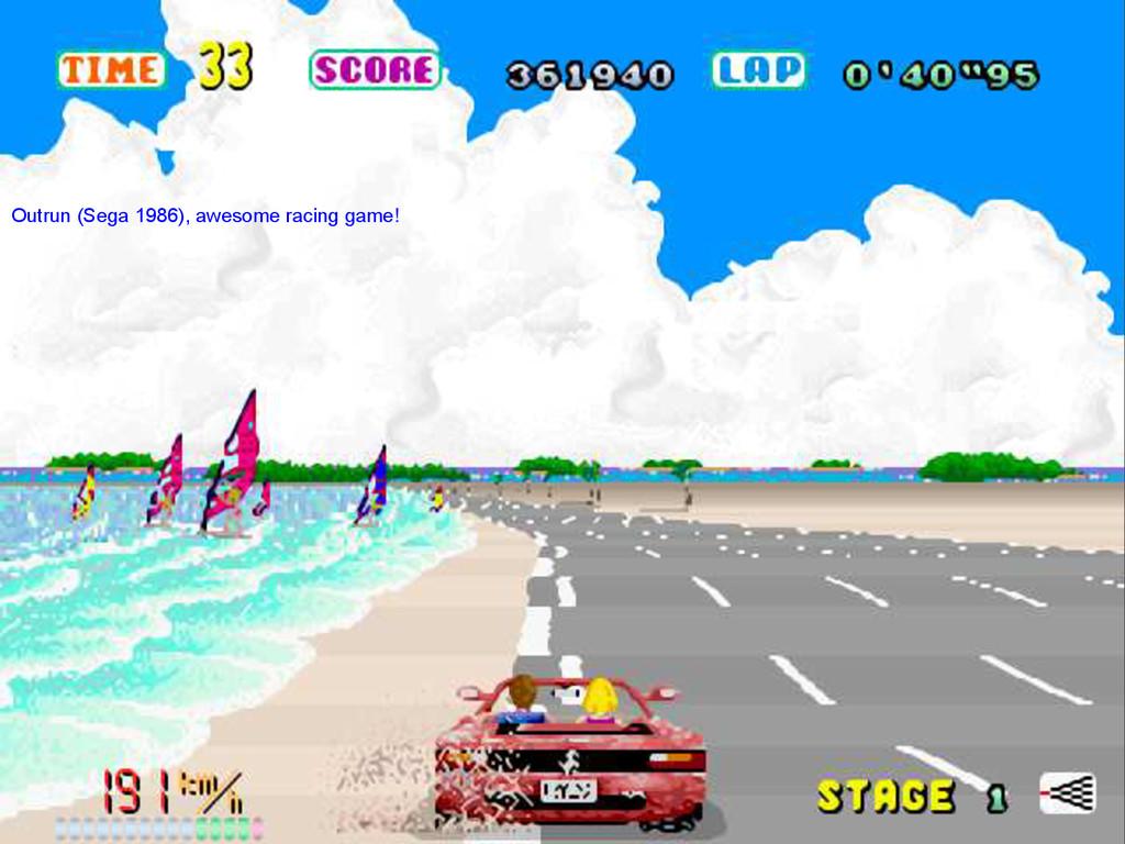 Outrun (Sega 1986), awesome racing game!