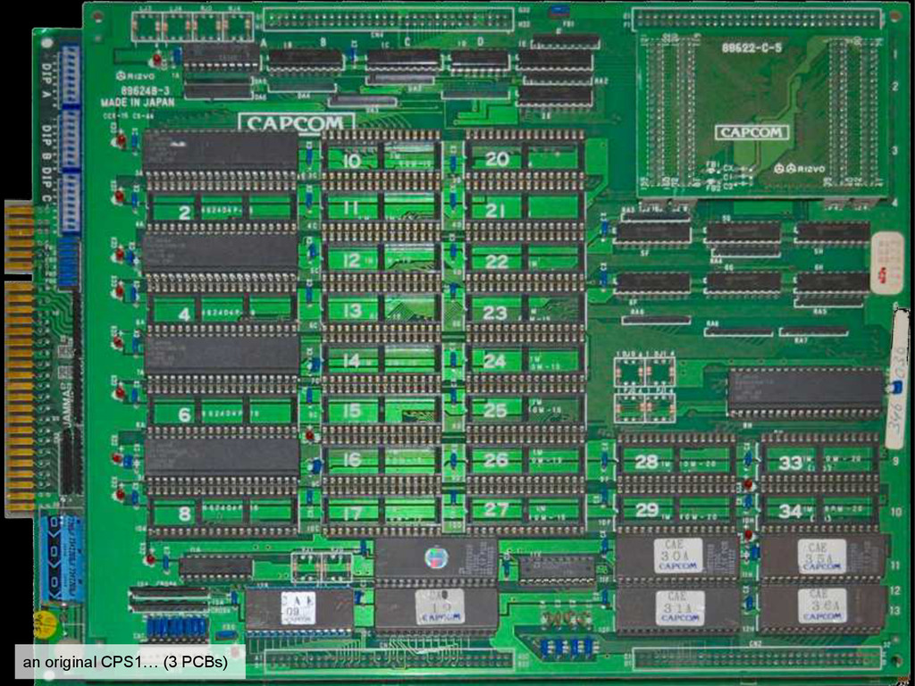 an original CPS1… (3 PCBs)