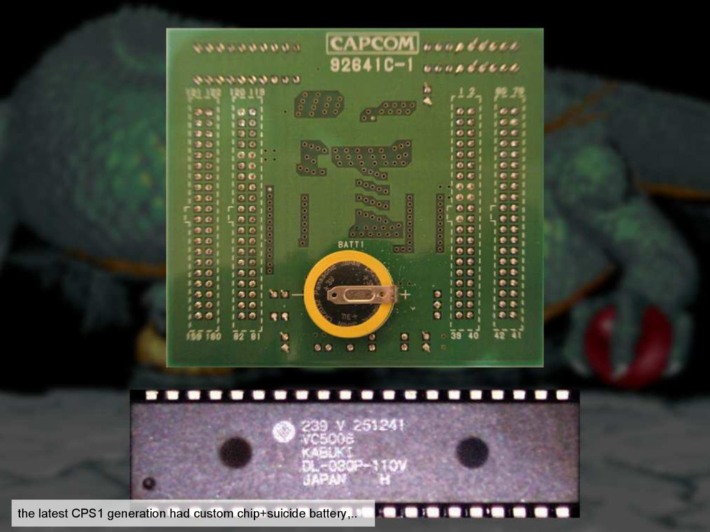 the latest CPS1 generation had custom chip+suic...
