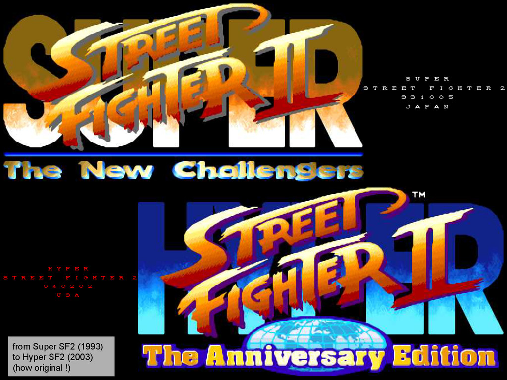 from Super SF2 (1993) to Hyper SF2 (2003) (how ...