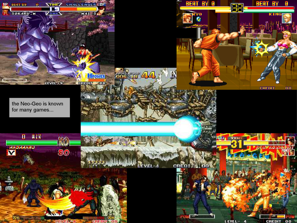 the Neo-Geo is known for many games...