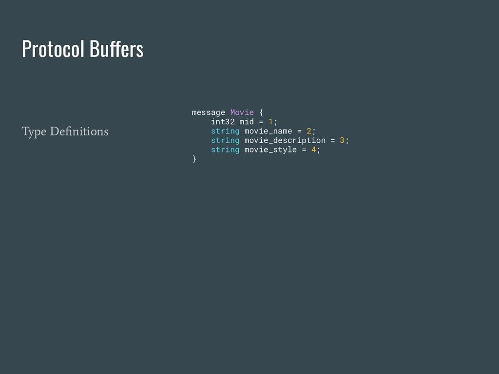 Protocol Buffers message Movie { int32 mid = 1;...