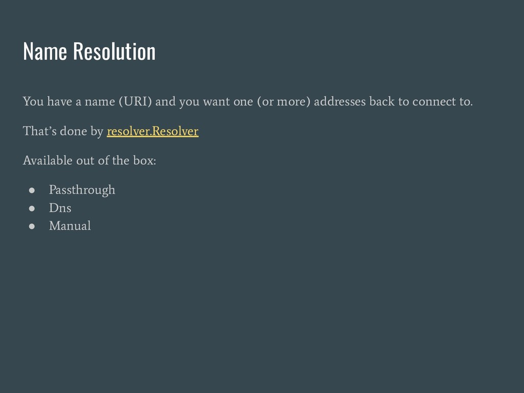 Name Resolution You have a name (URI) and you w...