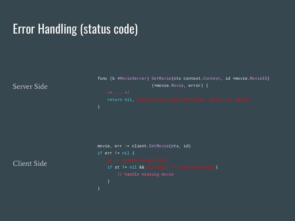 Error Handling (status code) func (b *MovieServ...