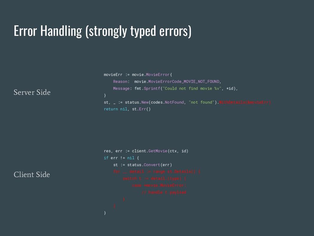 Error Handling (strongly typed errors) movieErr...