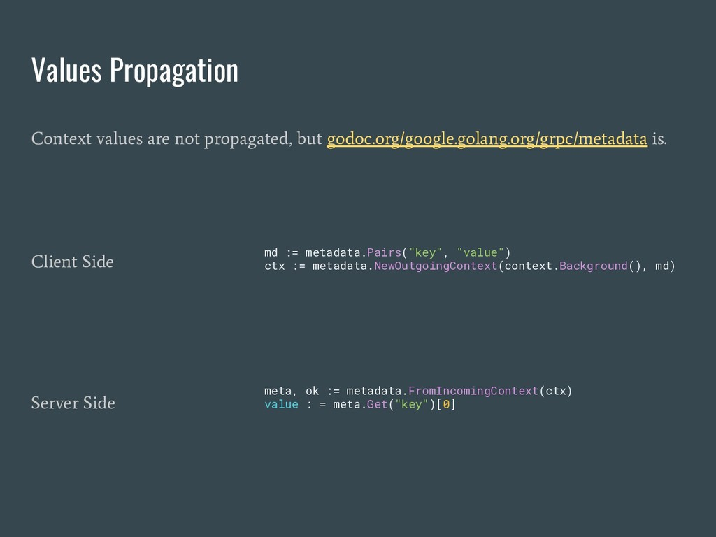 Values Propagation Context values are not propa...