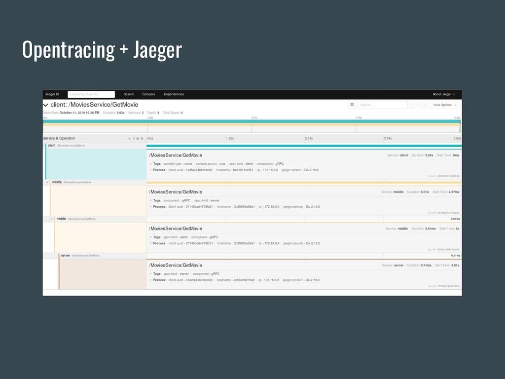 Opentracing + Jaeger
