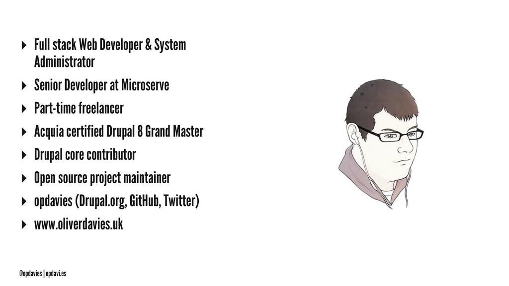 ▸ Full stack Web Developer & System Administrat...