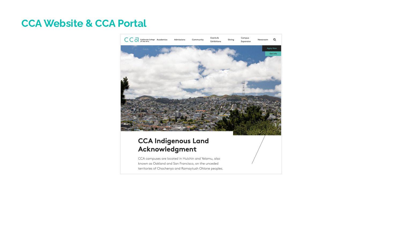 CCA Website & CCA Portal