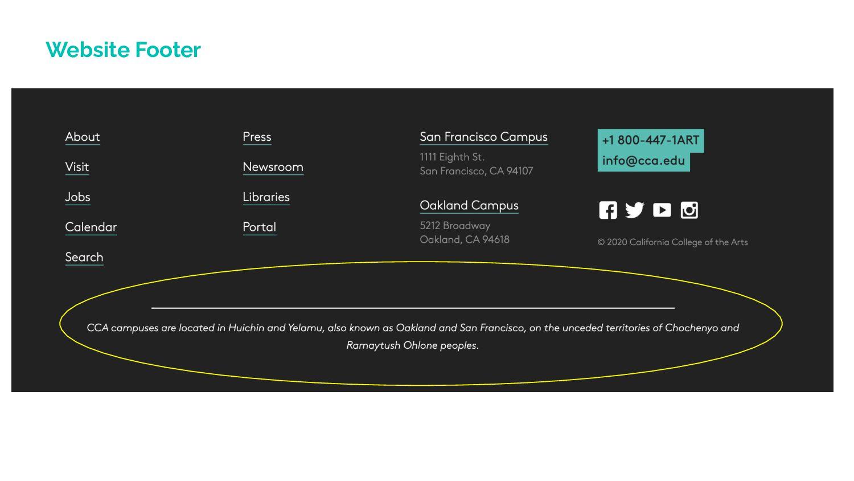 Website Footer