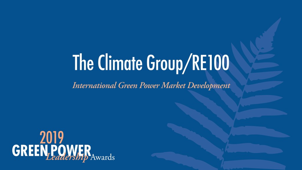 International Green Power Market Development Th...