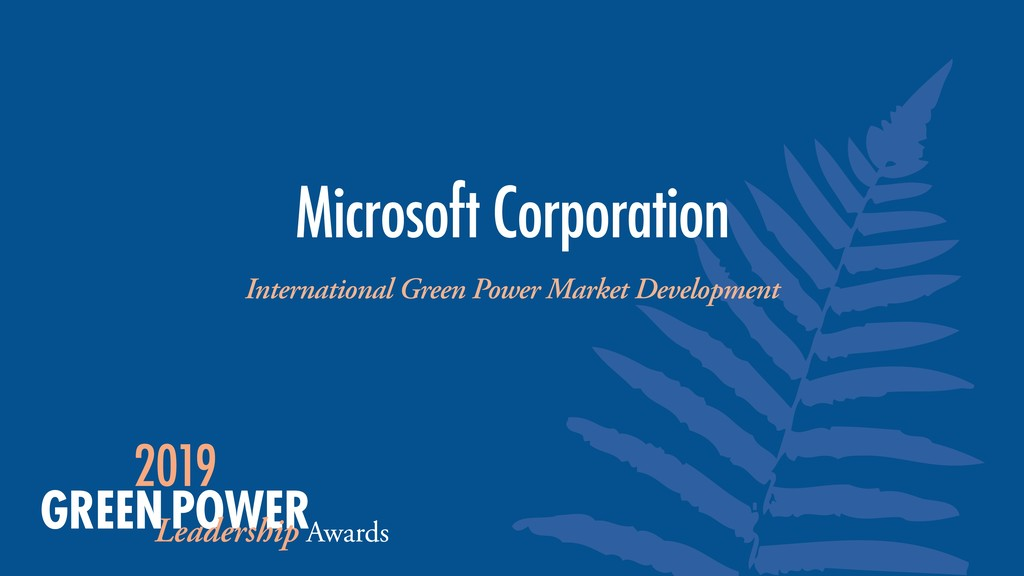 International Green Power Market Development Mi...
