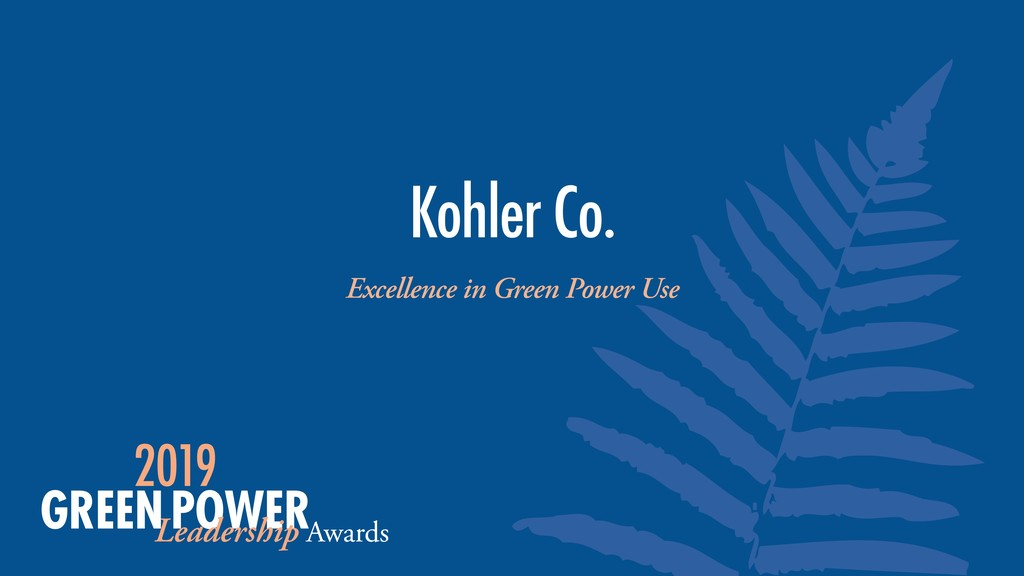 Kohler Co. Excellence in Green Power Use