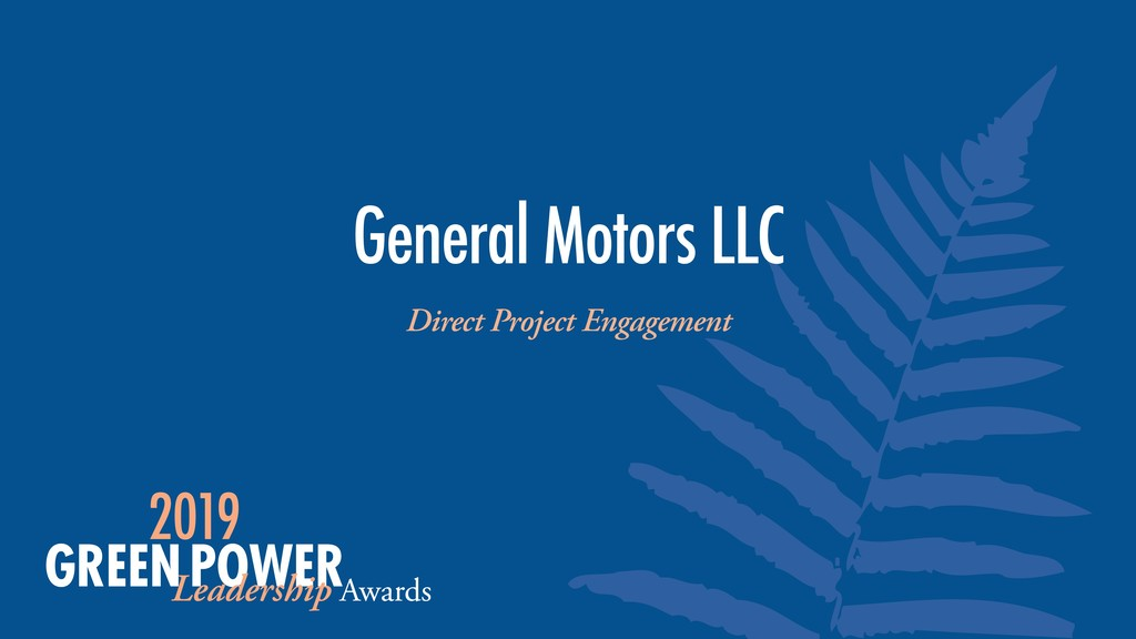 General Motors LLC Direct Project Engagement
