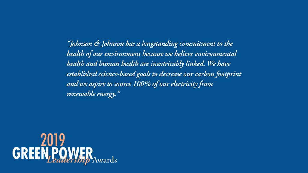 """Johnson & Johnson has a longstanding commitmen..."