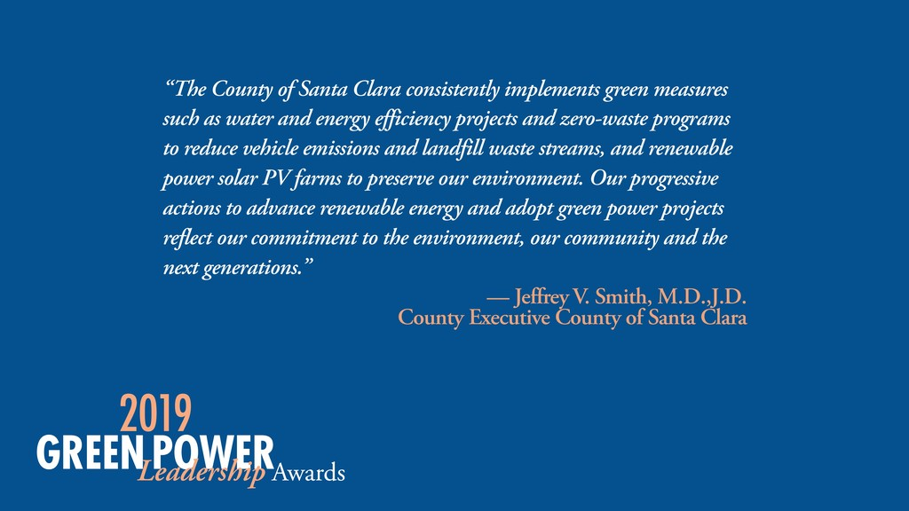 """The County of Santa Clara consistently impleme..."