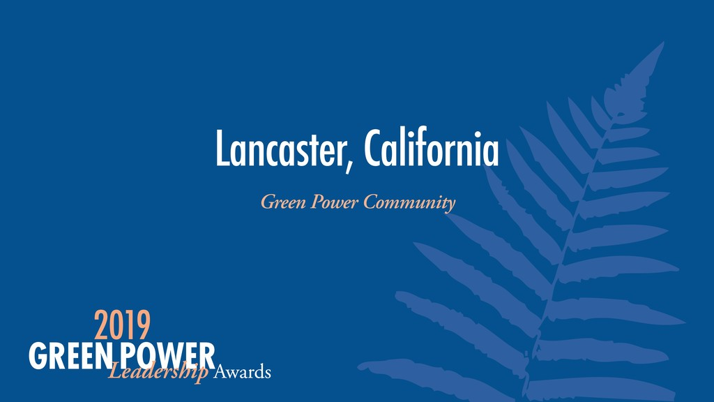 Lancaster, California Green Power Community