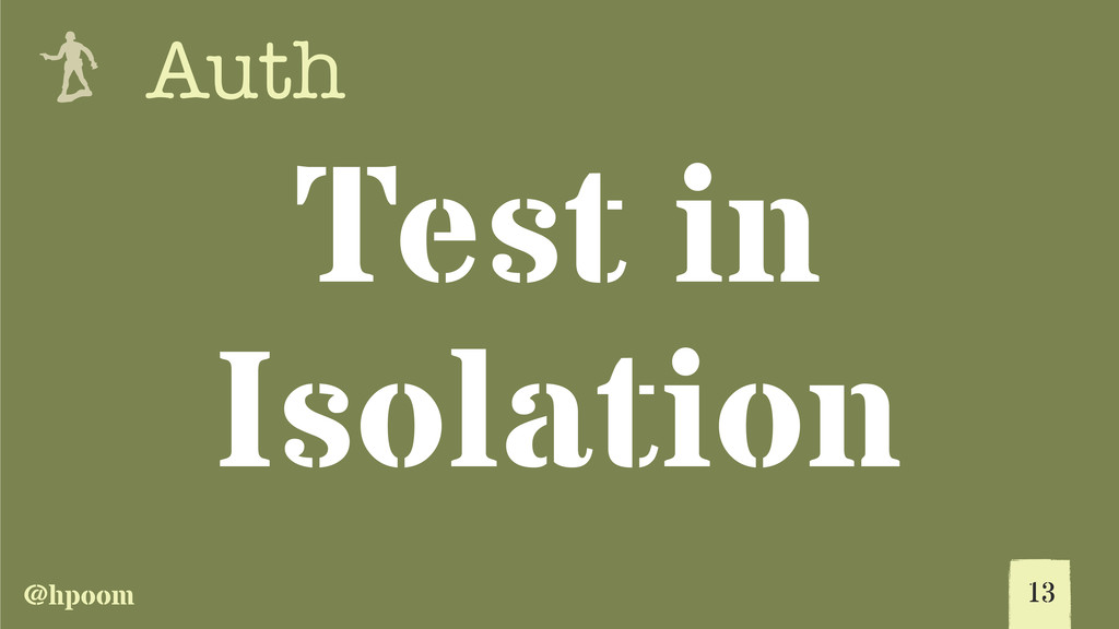 @hpoom e Auth Test in Isolation 13