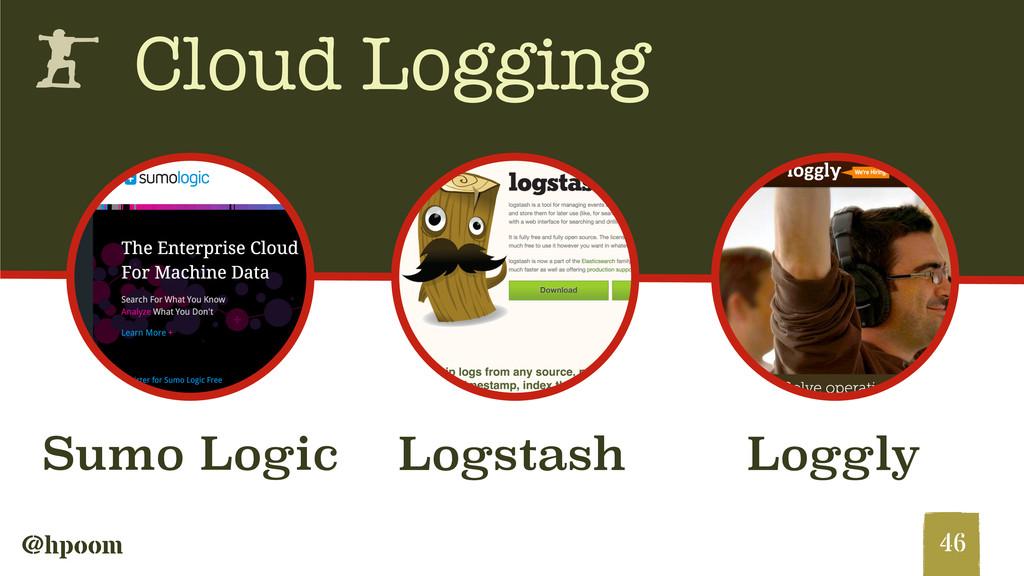 @hpoom h Cloud Logging 46 Sumo Logic Loggly Log...