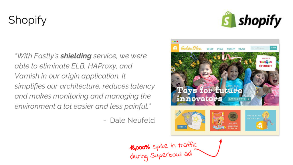 """""""With Fastly's shielding service, we were able ..."""