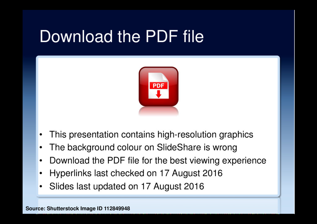 Download the PDF file •  This presentation cont...