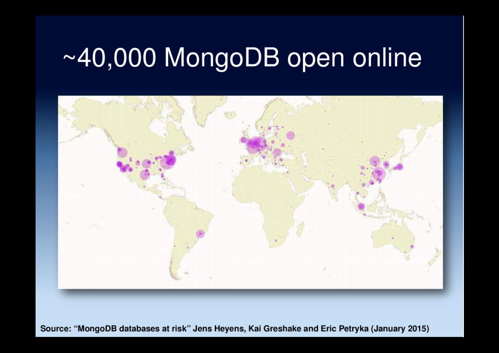 "~40,000 MongoDB open online Source: ""MongoDB da..."