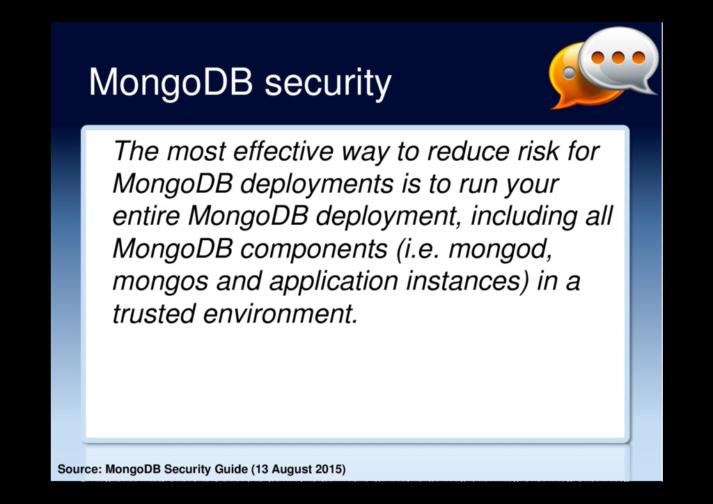 MongoDB security The most effective way to redu...
