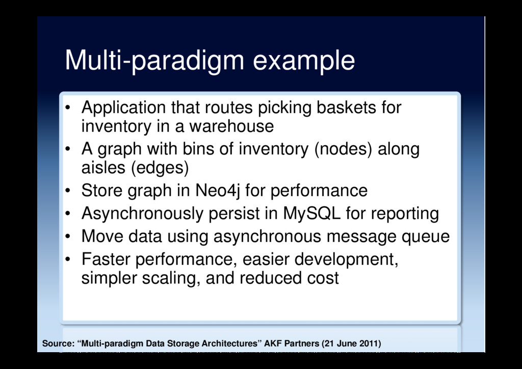 Multi-paradigm example •  Application that rout...