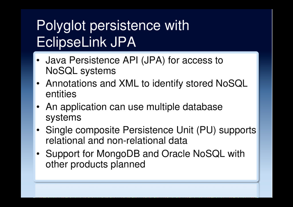 Polyglot persistence with EclipseLink JPA • Ja...