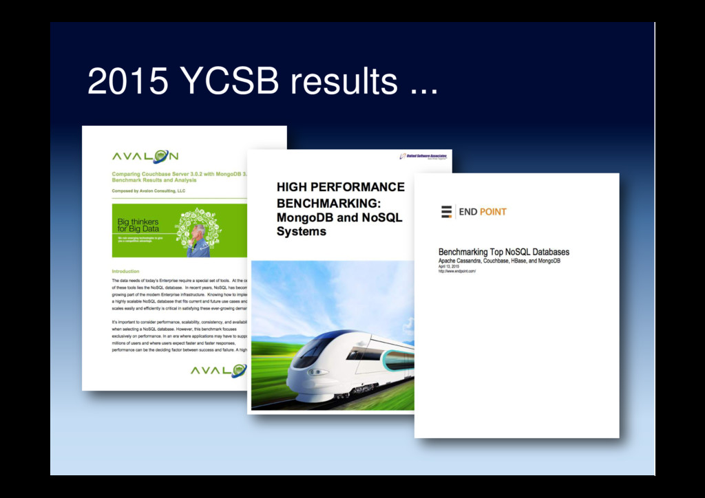 2015 YCSB results ...