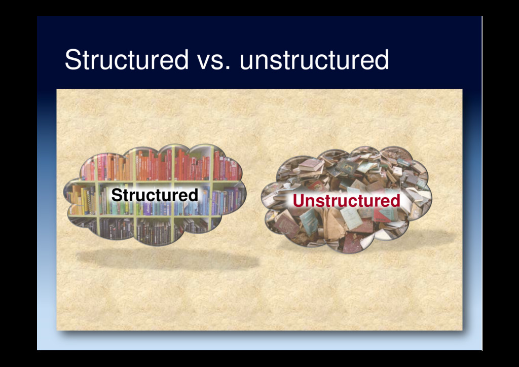 Structured vs. unstructured Structured Unstruct...