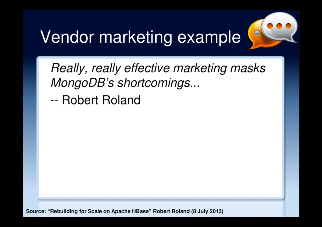 Vendor marketing example Really, really effecti...