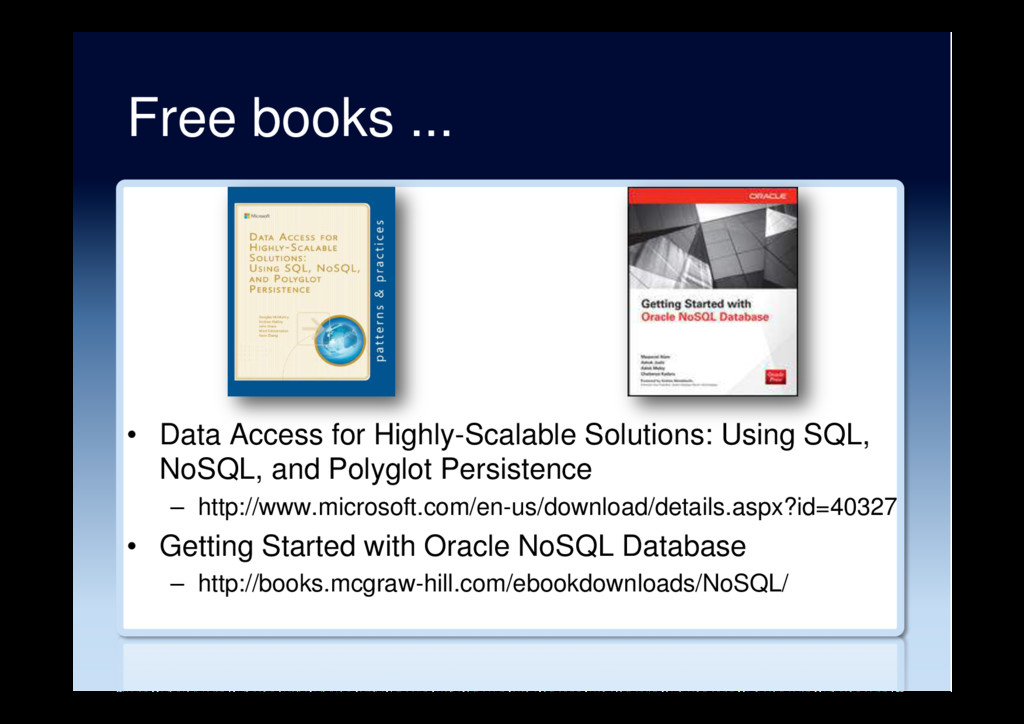 Free books ... •  Data Access for Highly-Scalab...