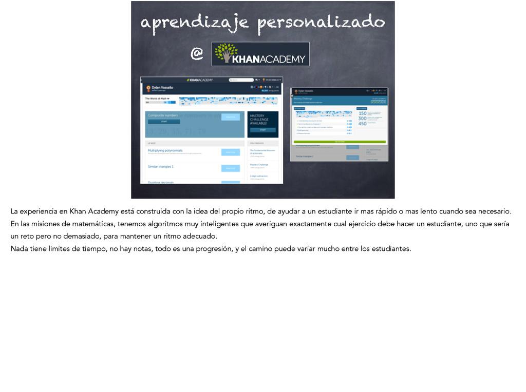 aprendizaje personalizado @ La experiencia en K...